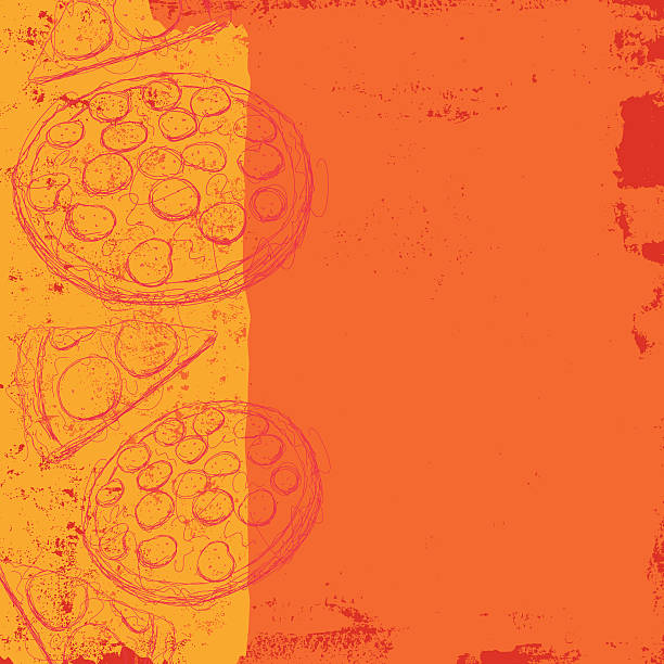 pizza background vector art illustration