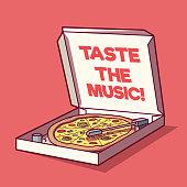 Food, Music, branding design concept