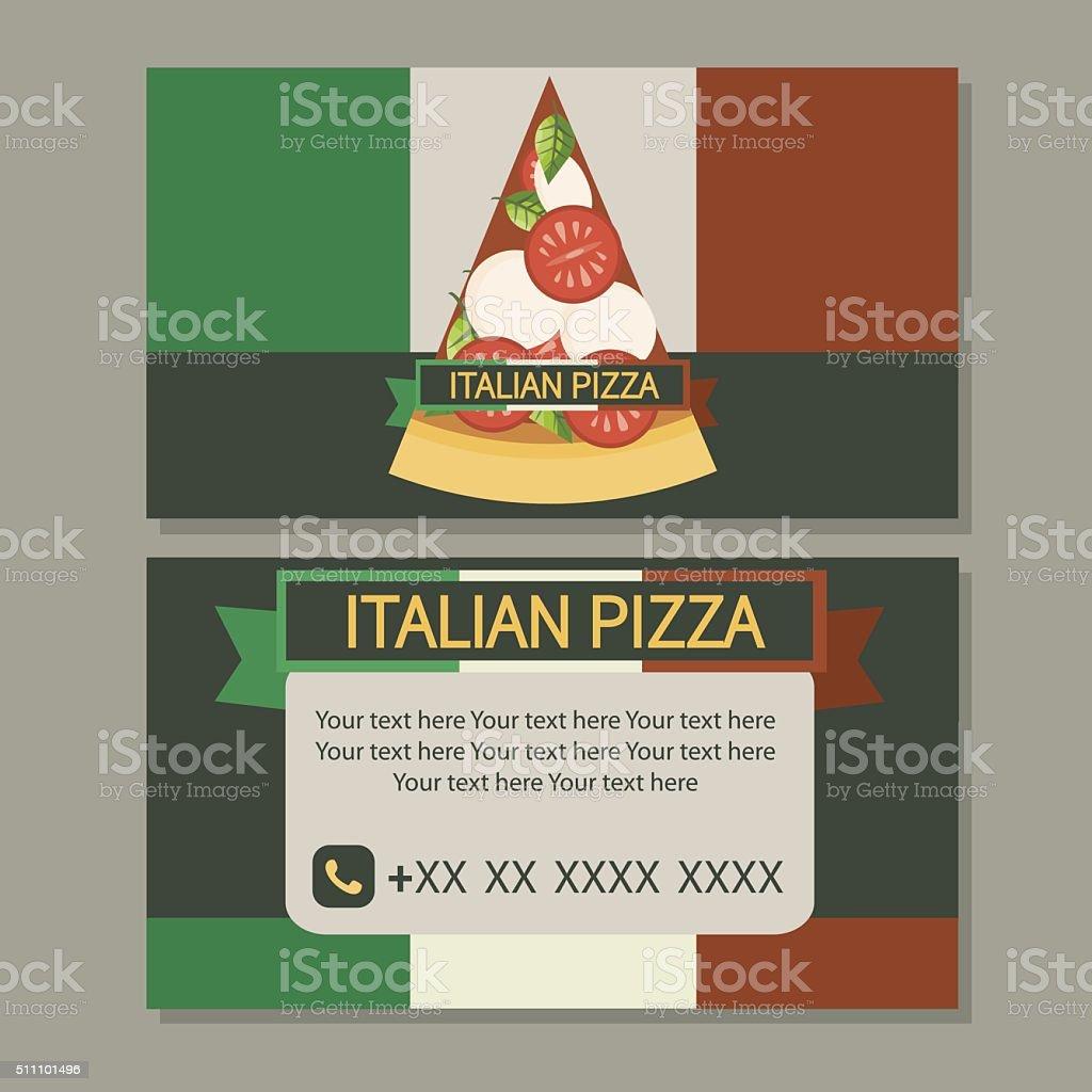 Pizza Business Card stock vector art 511101496 | iStock
