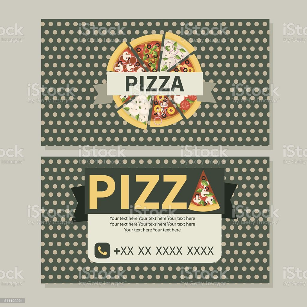 Pizza Business Card Stock Vector Art & More Images of Badge ...