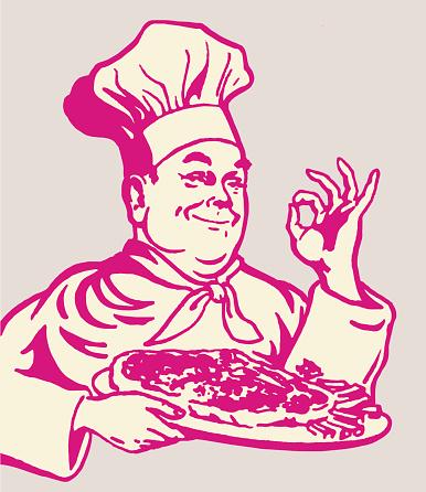 Pizza Chef Gesturing