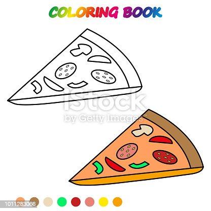 Pizza Boyama Kitabı Okul öncesi çocuklar Yetiştirmek Için Boyama