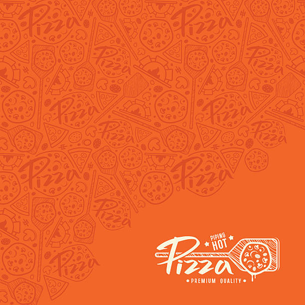 Pizza cover for boxes vector art illustration