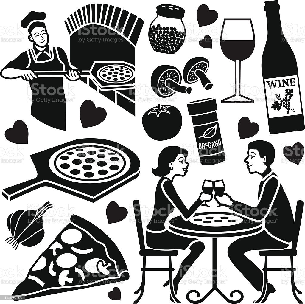 pizza date design elements royalty-free pizza date design elements stock vector art & more images of adult