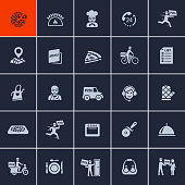 Pizza Delivery Icons