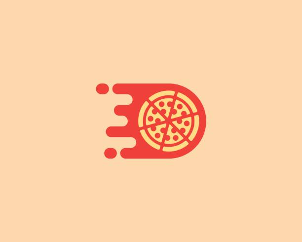 pizza emblemtype. pizzeria-vektor-emblem-design. lieferung fast-food kreative moderne zeichen symbol symbol. - pizzeria stock-grafiken, -clipart, -cartoons und -symbole