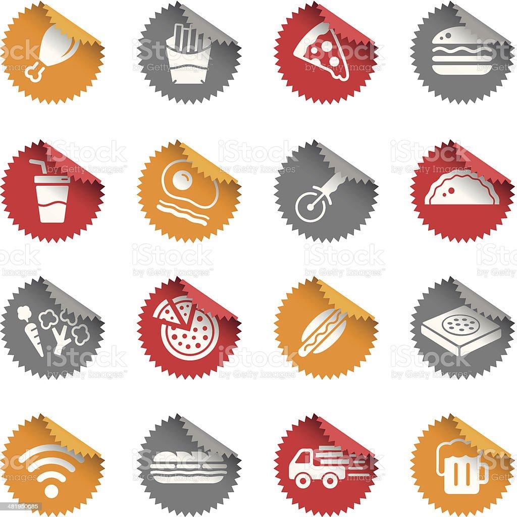 Pizza & Fast Food Restaurant | Tags vector art illustration