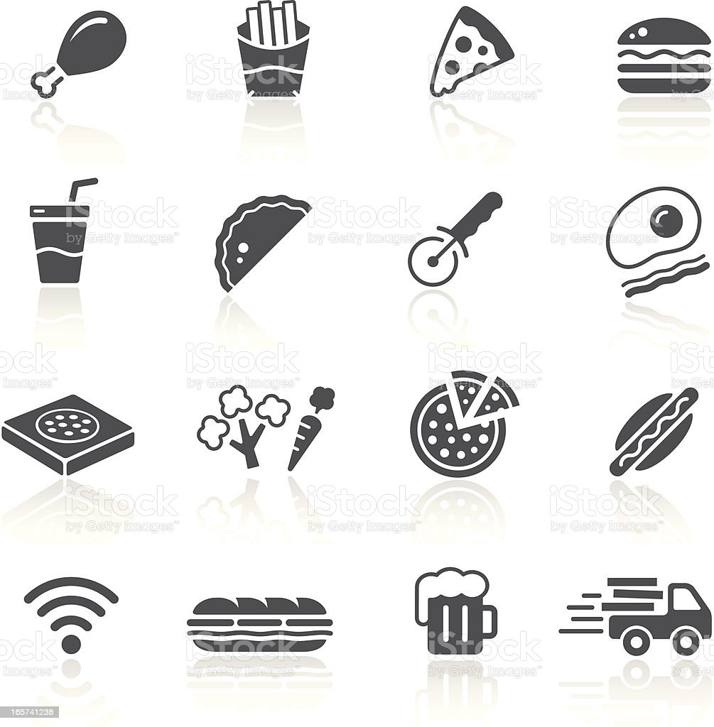 Pizza & Fast Food Restaurant vector art illustration