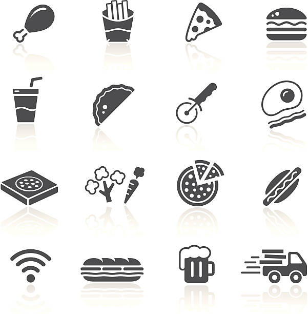 pizza & fast food restaurant - sub sandwich stock illustrations, clip art, cartoons, & icons