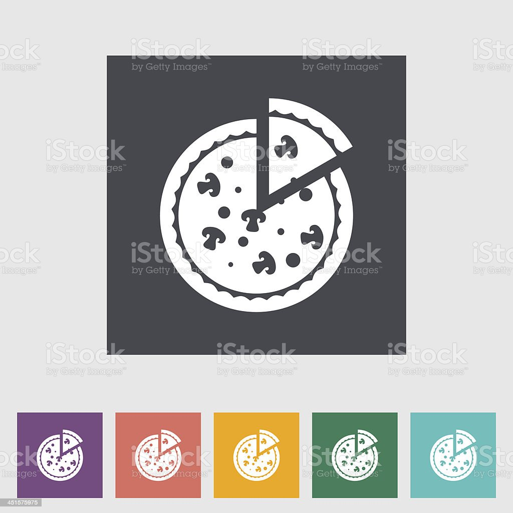 Pizza flat icon royalty-free stock vector art
