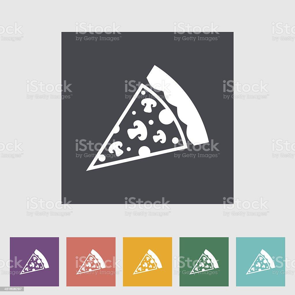 Pizza flat icon royalty-free stock vector art