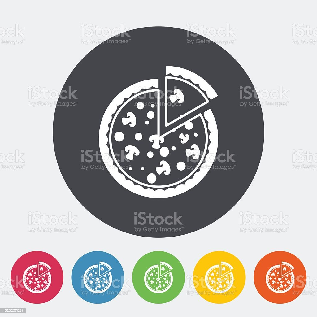 Pizza flat icon vector art illustration