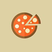 Pizza. Food Flat Icon