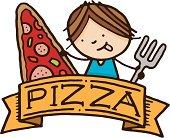 Pizza food menu item banner