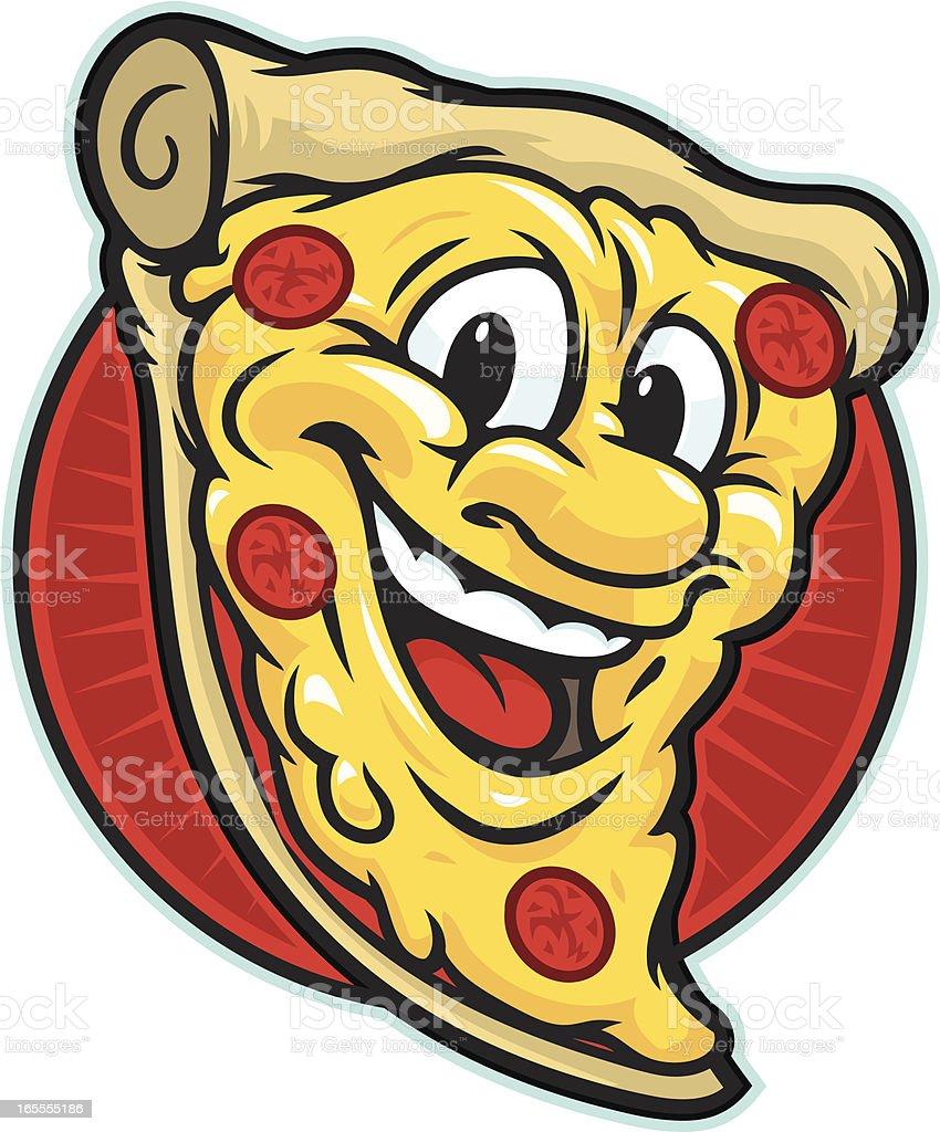 Pizza Guy vector art illustration