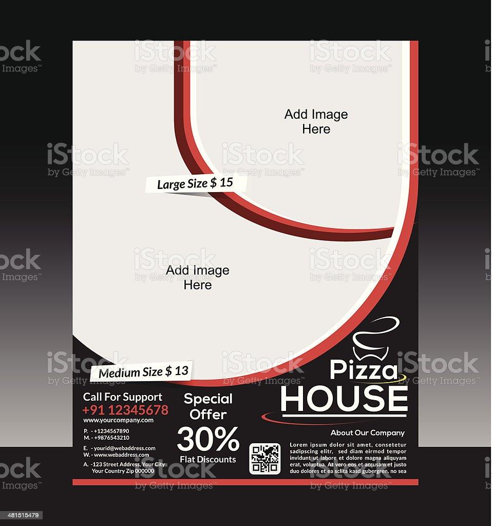 Pizza Asamblea Flyer Plantilla - Arte vectorial de stock y más ...