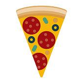 istock Pizza Icon on Transparent Background 1283420004