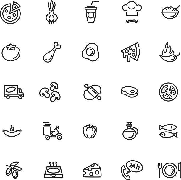 pizza symbol set - portion stock-grafiken, -clipart, -cartoons und -symbole