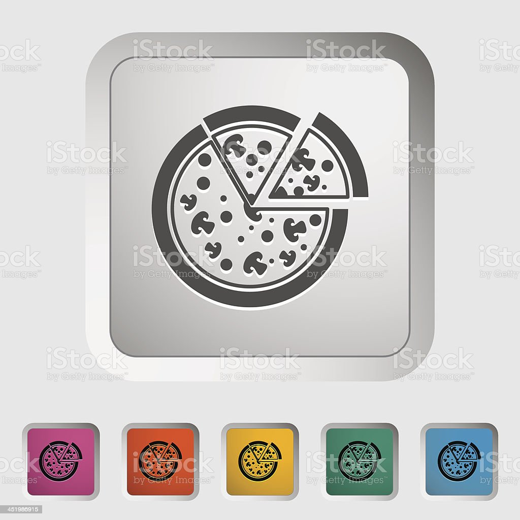 Pizza icon royalty-free stock vector art