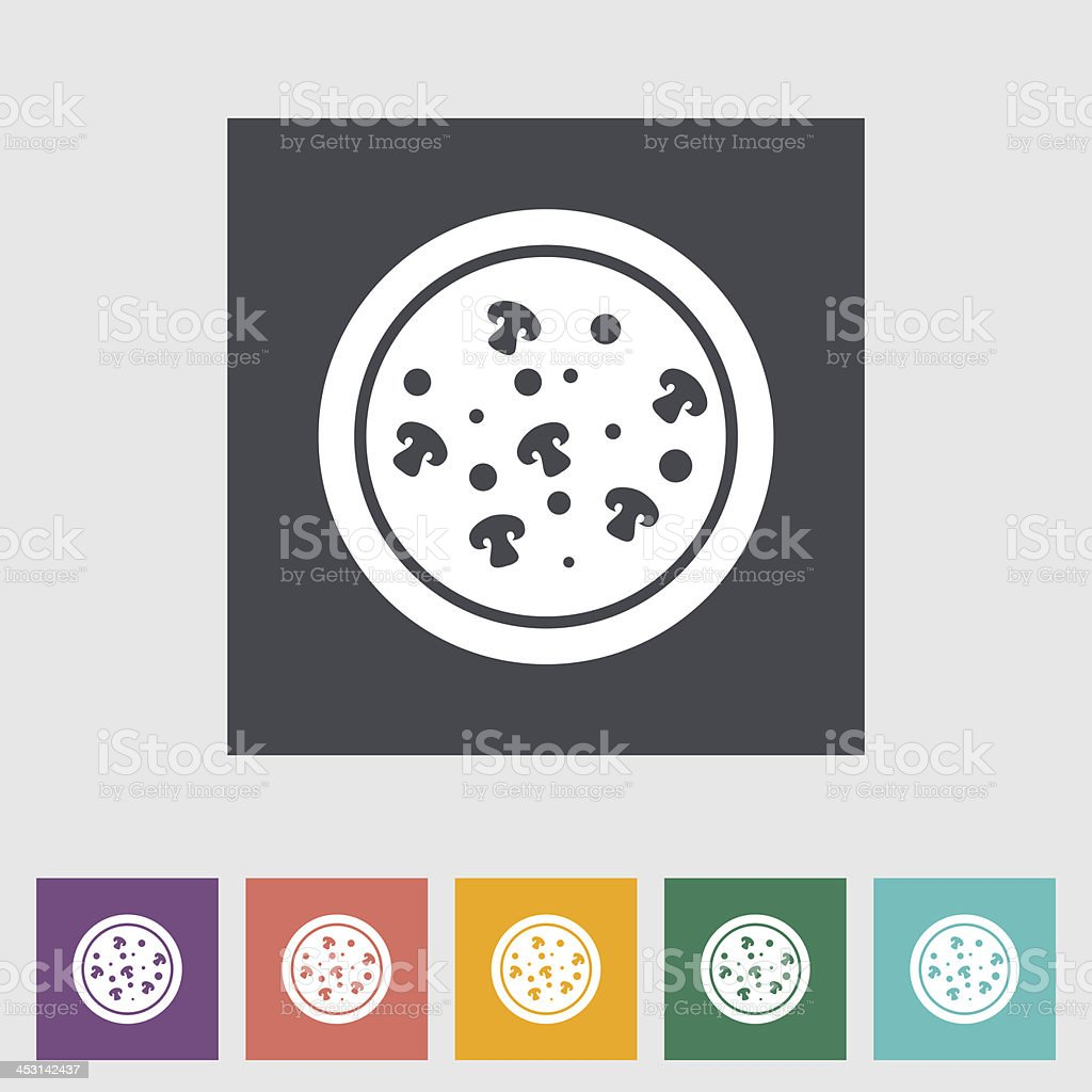 Pizza icon royalty-free stock vector art