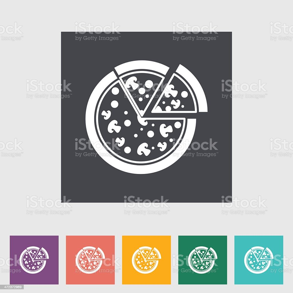 Pizza icon vector art illustration