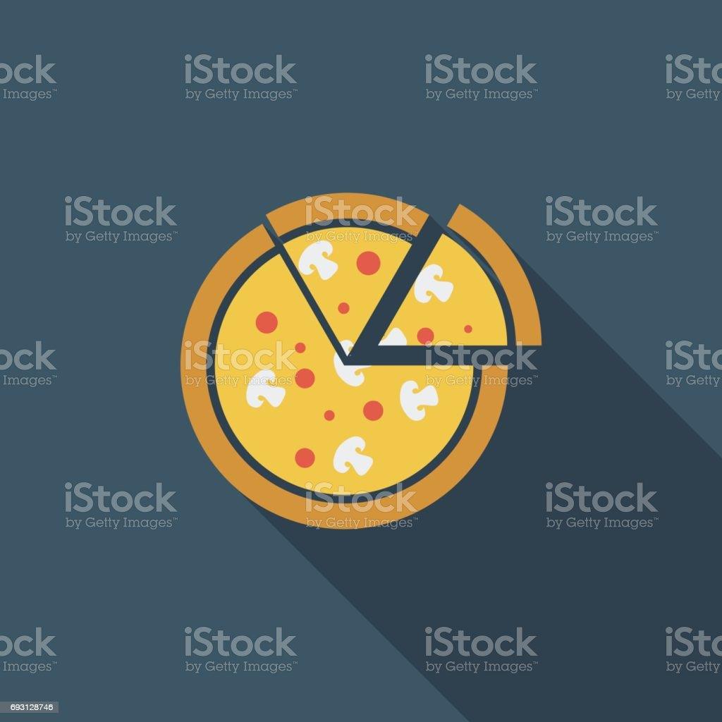 Pizza icon. vector art illustration