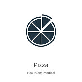 istock Pizza icon vector. Trendy flat pizza icon from health collection isolated on white background. Vector illustration can be used for web and mobile graphic design, logo, eps10 1192988480