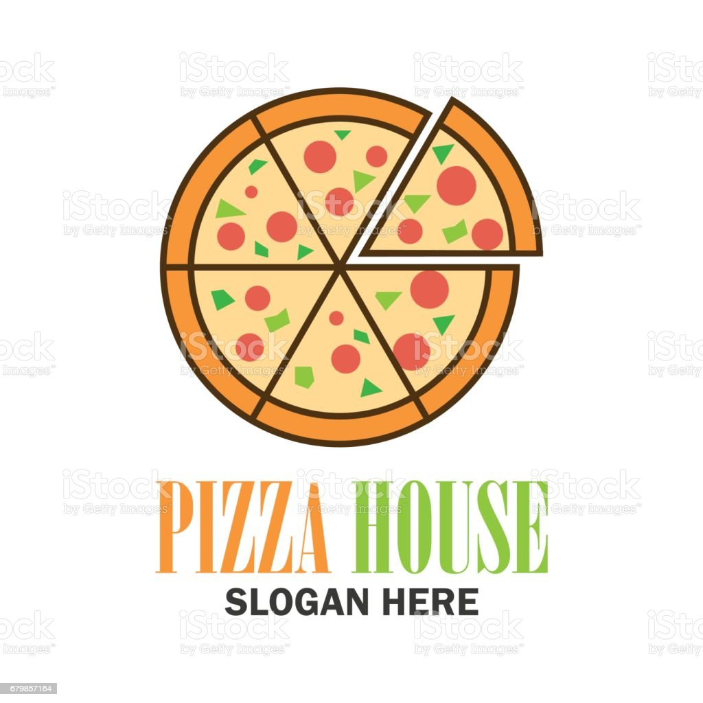 pizza icon with text space for your slogan / tag line, vector illustration vector art illustration