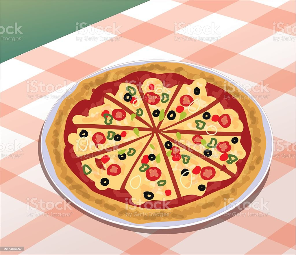 Pizza - Illustration vector art illustration