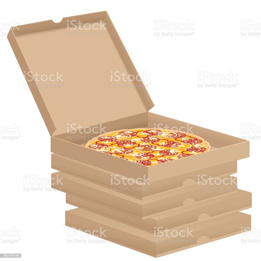 royalty free empty pizza box clip art vector images illustrations rh istockphoto com