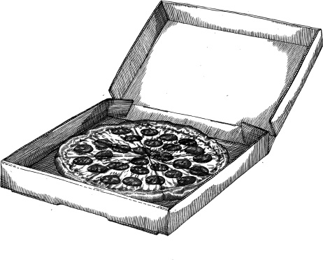 Pizza in the Box Drawing
