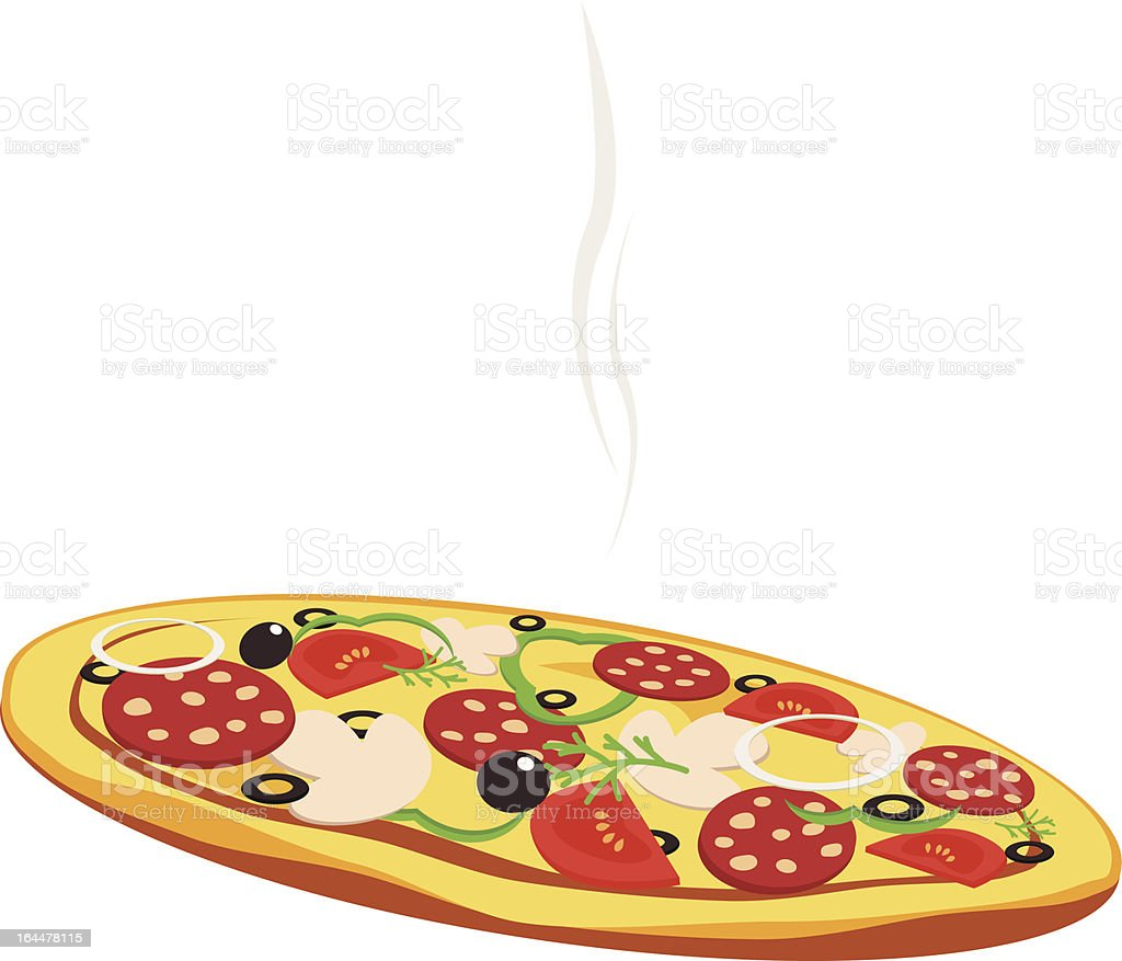 Pizza isolated on white background royalty-free stock vector art
