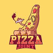 Logo, brand, joint, dinner, marijuana design concept