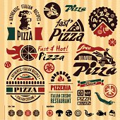 Pizza labels collection