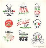 Pizza labels