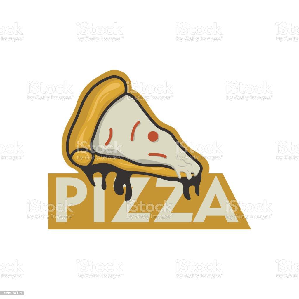 Pizza logo vector pizza logo vector - stockowe grafiki wektorowe i więcej obrazów gotować royalty-free