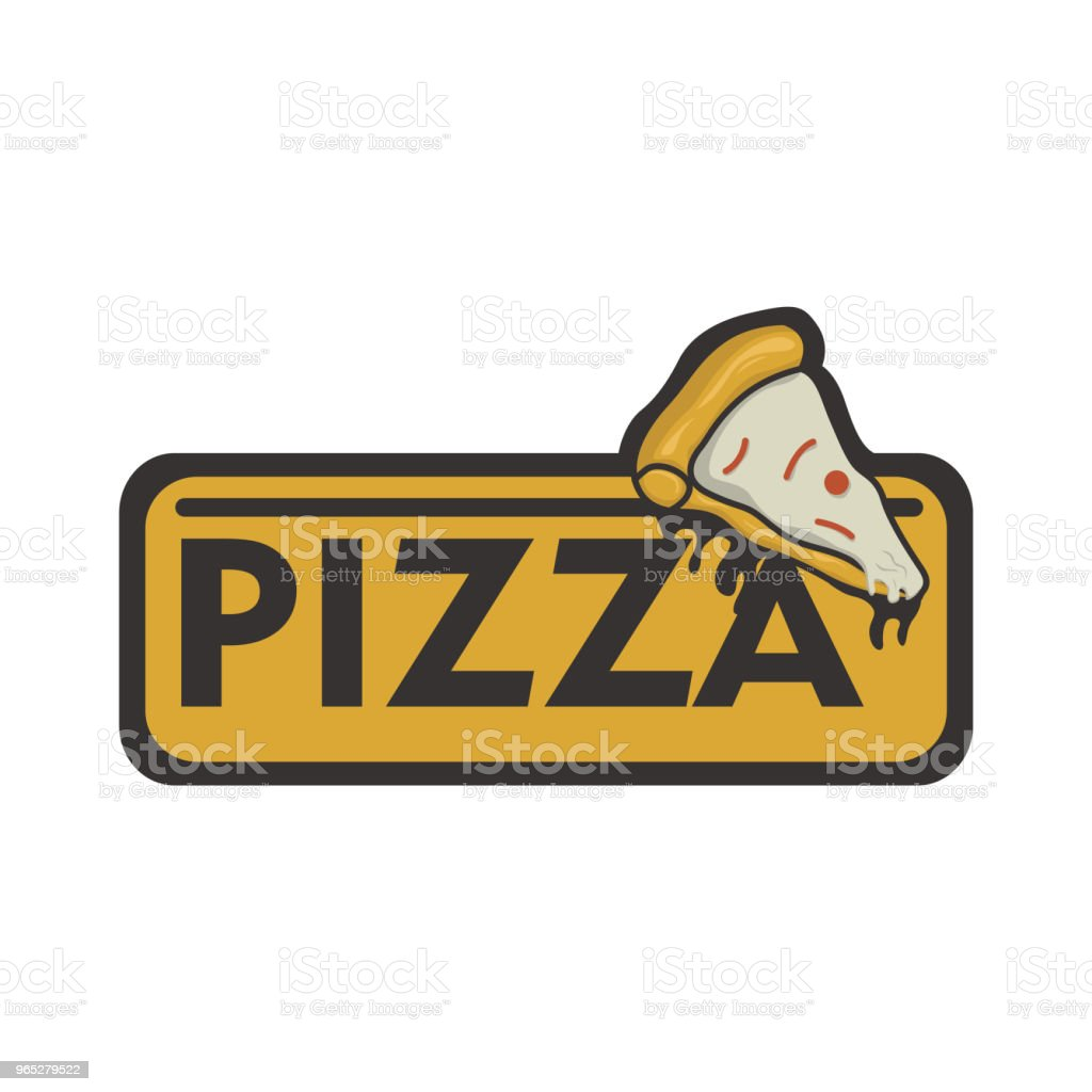 Pizza logo vector royalty-free pizza logo vector stock illustration - download image now