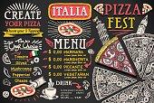 istock Pizza Menu Italian Food Vector Design 815525130