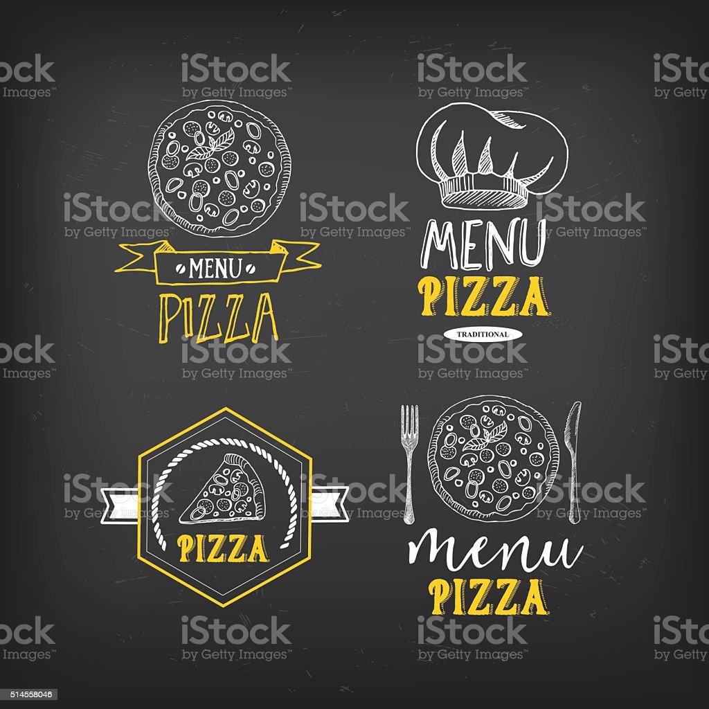 Menú De Pizzas Del Restaurante Tarjetas Plantilla De Diseño De Los ...