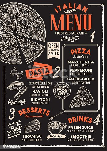 istock Pizza menu restaurant, food template. 928066398