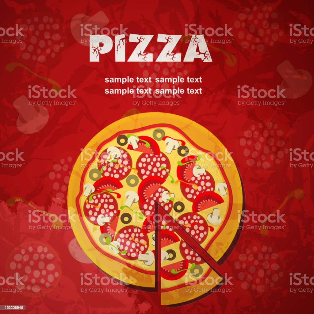 Pizza Menu Template, vector illustration royalty-free stock vector art
