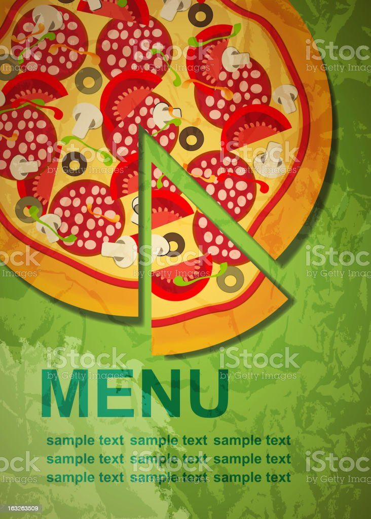 Pizza Menu Template, vector illustration royalty-free pizza menu template vector illustration stock vector art & more images of abstract
