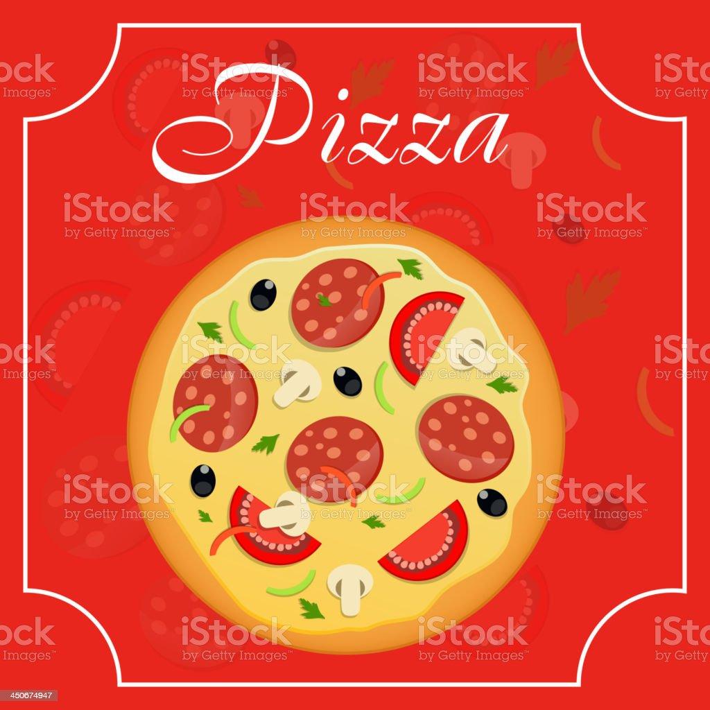 Vector Ilustración De Plantilla De Menú De Pizzas Illustracion Libre ...