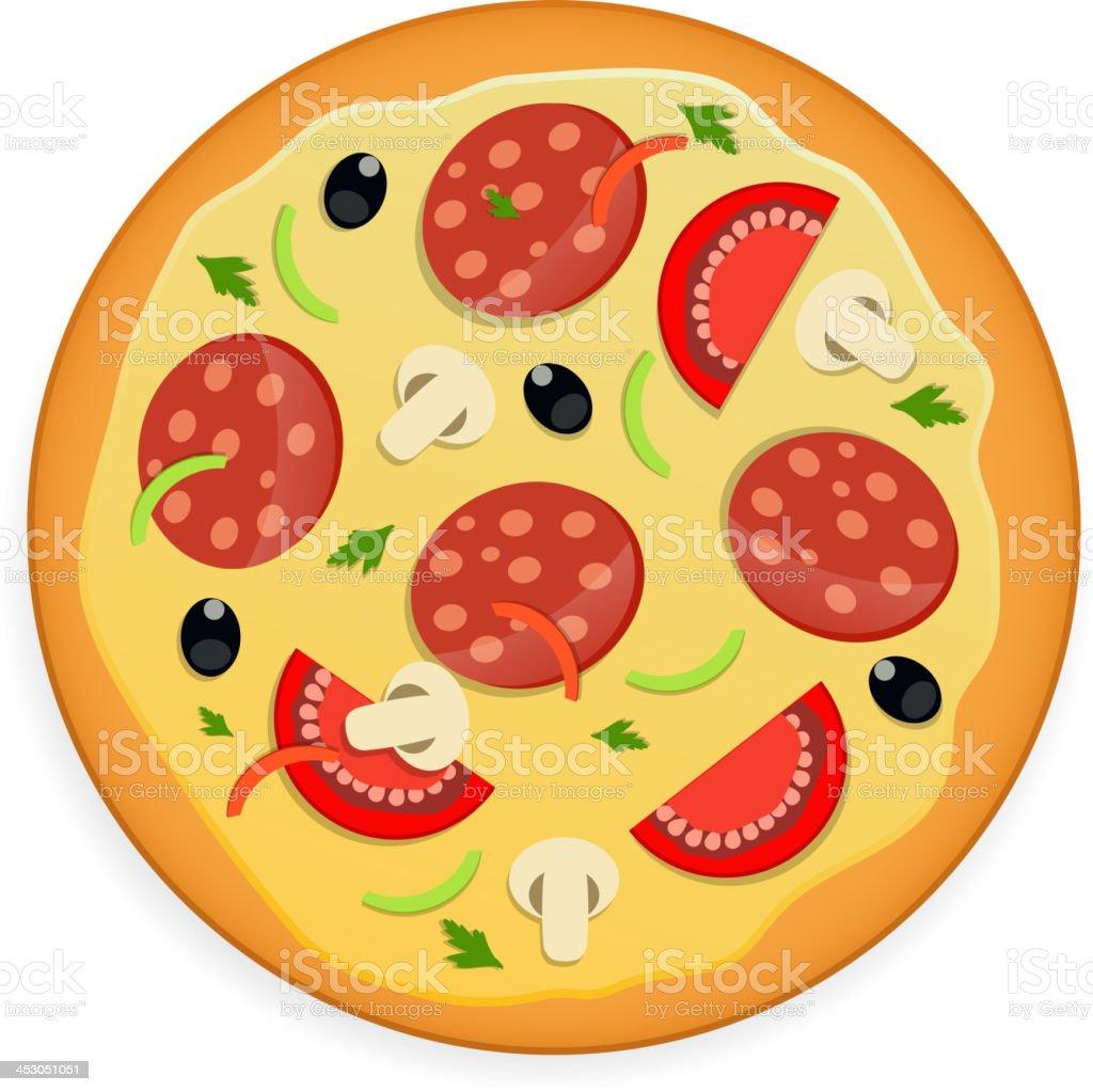 Pizza menu template vector illustration vector art illustration