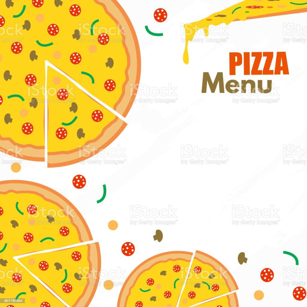 Ilustración de Fondo De Vector Del Menú De Pizza Restaurante ...