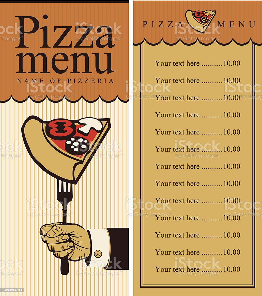 pizza menu royalty-free pizza menu stock vector art & more images of cafe