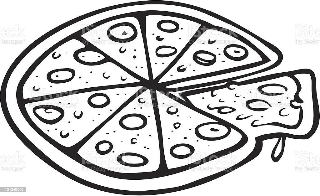 Pizza Outline Stock Vector Art & More Images of Art ...