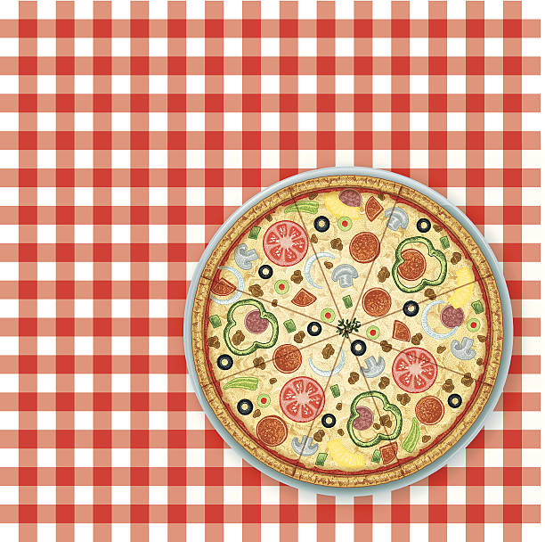 Pizza Party Picnic Background Graphic background illustration of a pepperoni pizza. Scale to any size. Check out my