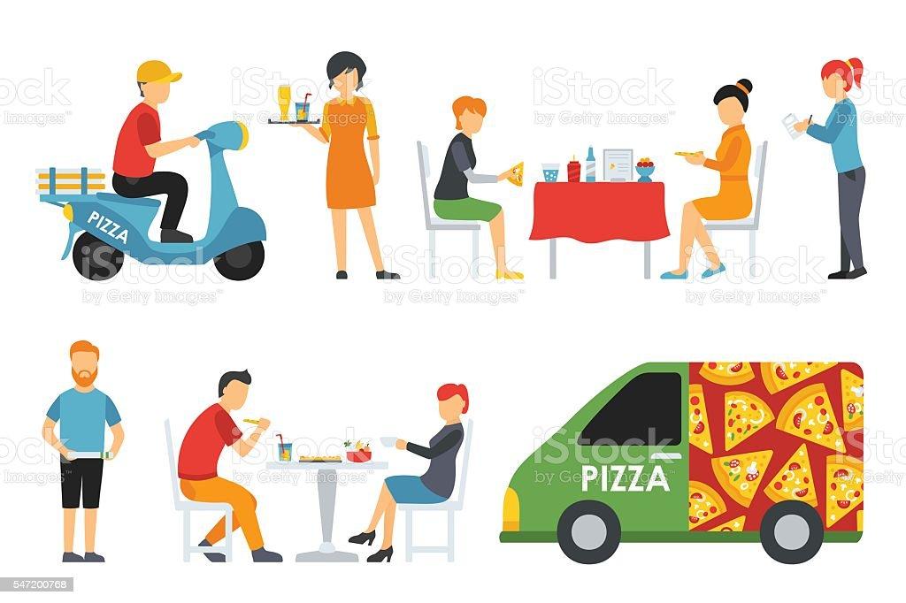 Графики для доставщиков пиццы