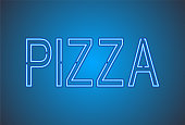 Neon light Pizza